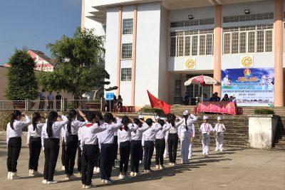 Liên đội Nguyễn Văn Trỗi thi nghi thức Đội TNTP Hồ Chí Minh
