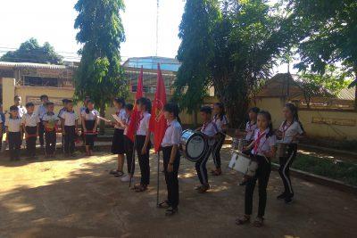 Tổ chức Lễ kết nạp Đội viên cho các em học sinh khối 3 2018-2019